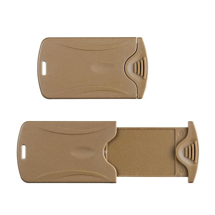 Gepäckanhänger Travel 2 Stück beige