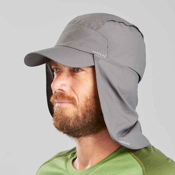 Casquette Trek 900 anti-UV avec protection nuque amovible Grise