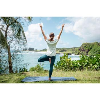 Technische legging voor zachte yoga dames eendenblauw