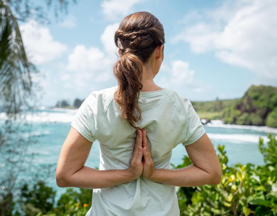 t-shirt de yoga