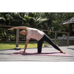 Yogamat Comfort voor zachte yoga 8 mm bordeaux