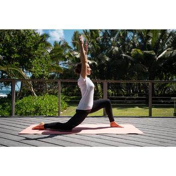 女款舒緩瑜珈有機棉緊身褲 - 黑色/灰色