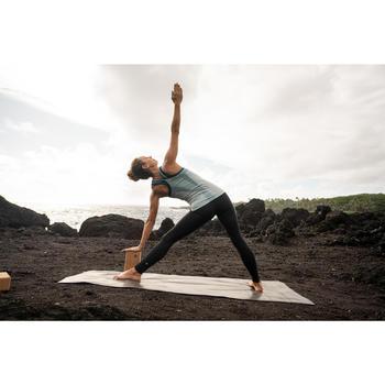 Legging voor dynamische yoga dames zwart