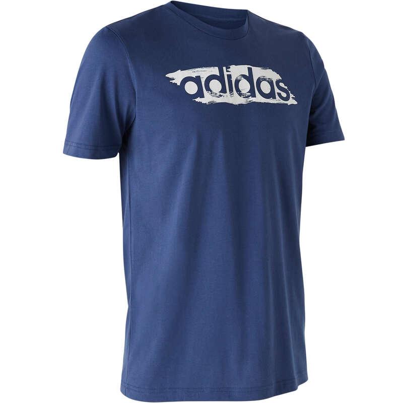FÉRFI PÓLÓ, RÖVIDNADRÁG Fitnesz, jóga - Férfi póló Adidas ADIDAS - Szabadidős fitnesz ruházat