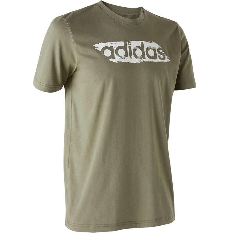 T-SHIRT E SHORT UOMO Ginnastica, Pilates - T-shirt uomo gym DECADIO verde ADIDAS - Abbigliamento uomo
