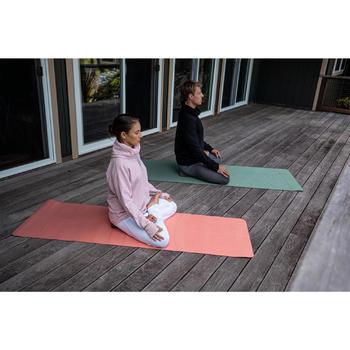 Sweater voor relaxatie bij yoga dames gemêleerd roze