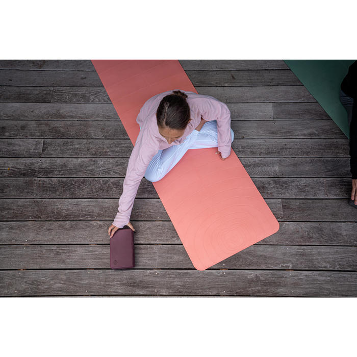 Yogamat Light voor zachte yoga Club 5 mm koraal