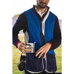 GILET BALL-TRAP 520 SPORTING BLEU