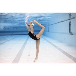 Maillot de bain femme de natation artistique (synchronisée) une pièce, noir.