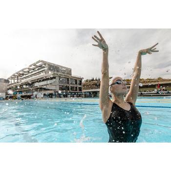 Maillot de bain fille de natation artistique (synchronisée) une pièce, noir.