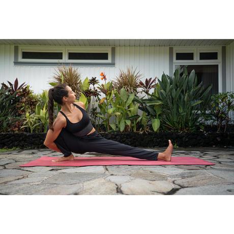 tappetino yoga grip 5 mm rosa  domyosdecathlon