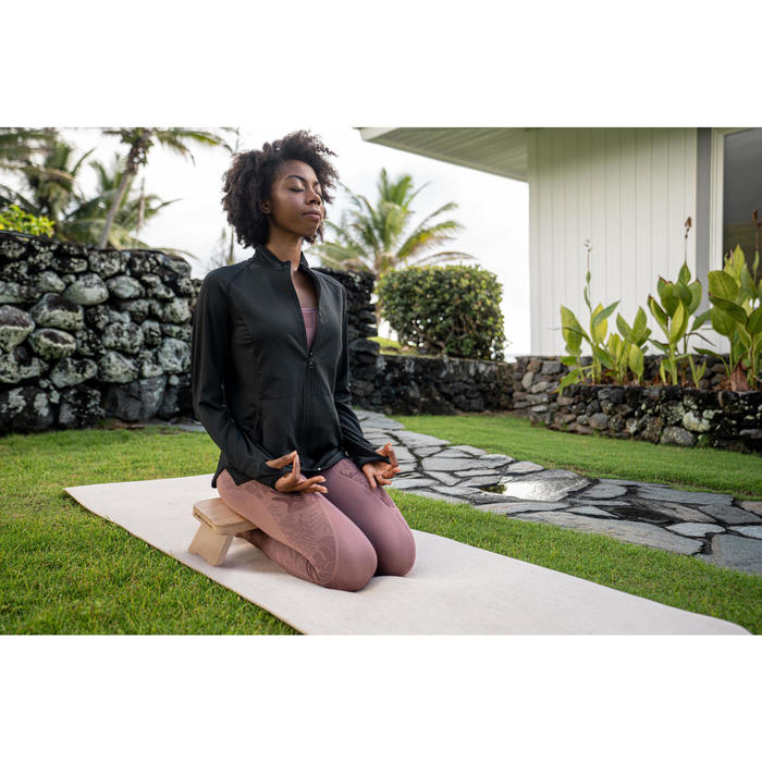Omkeerbaar vest voor dynamische yoga zwart/grijs