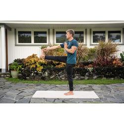 Yogamat natuurrubber / jute 4 mm beige