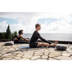 Legging voor zachte yoga dames biologisch katoen zwart/grijs