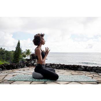 Zafu / kussen voor yoga en meditatie milieuvriendelijk gemêleerd grijs