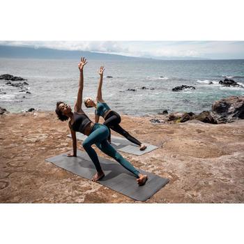 Yogamat voor dynamische yoga Grip+ 3 mm grijs