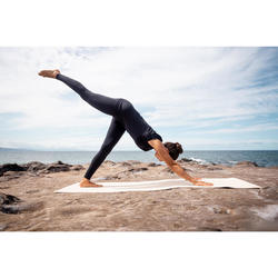 Second Skin Tech Yoga Leggings with Black Perforated Motifs