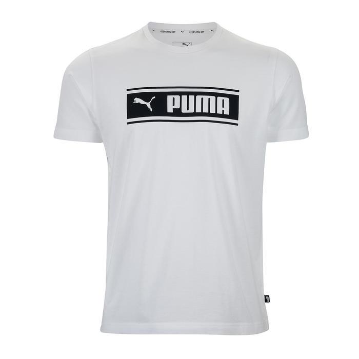 T-Shirt Puma Homme Blanc Imprimé