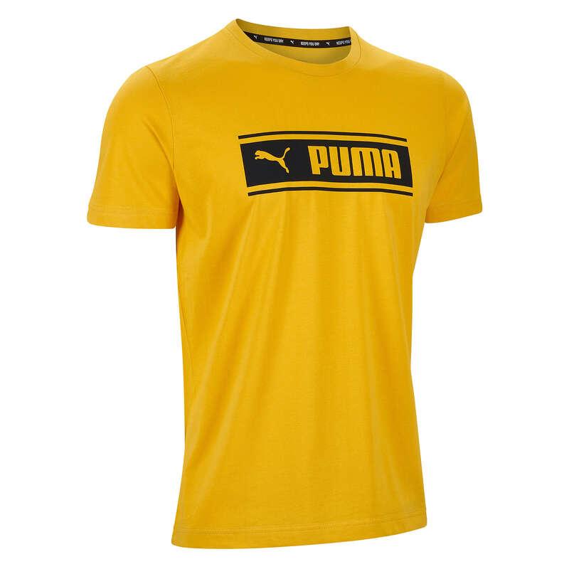 T-SHIRT E SHORT UOMO Ginnastica, Pilates - T-shirt uomo gym gialla PUMA - Abbigliamento uomo