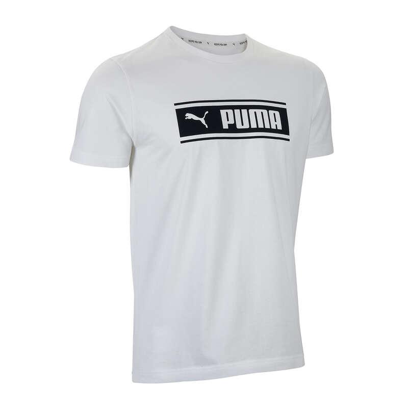 T-SHIRT E SHORT UOMO Ginnastica, Pilates - T-shirt uomo gym bianca PUMA - Abbigliamento uomo