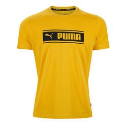 T-Shirt Puma Homme Jaune Imprimé