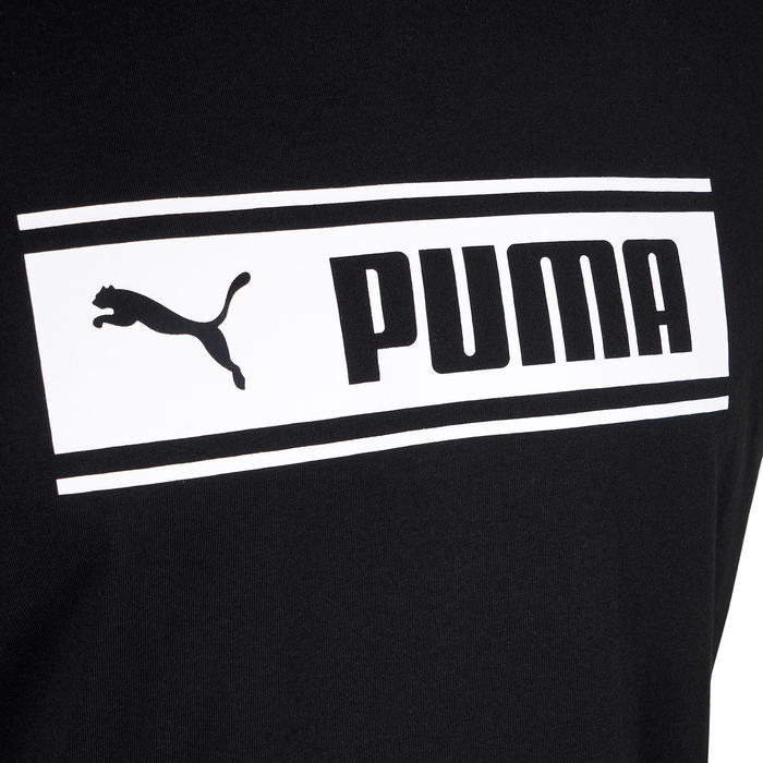 T-shirt heren zwart/print