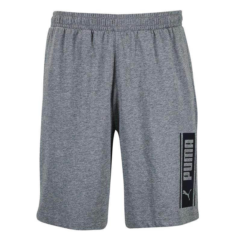 T-SHIRT E SHORT UOMO Ginnastica, Pilates - Pantaloncini uomo gym grigi PUMA - Abbigliamento uomo