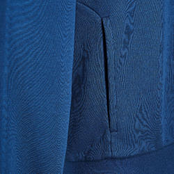 Hoodie met rits voor heren 500 blauw