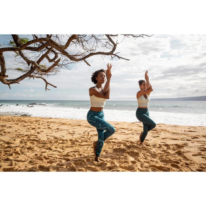雙面動態瑜珈緊身褲 - 藍綠色