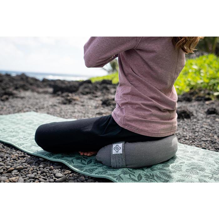 Zafu / kussen voor yoga en meditatie gemêleerd grijs