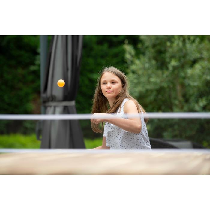 SET POTEAUX FILET DE PING PONG REGLABLE ROLLNET BLANC/GRIS 2 RAQUETTES 3 BALLES