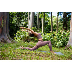 Naadloze 7/8-legging yoga bordeaux