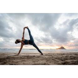Naadloze yogalegging eendenblauw