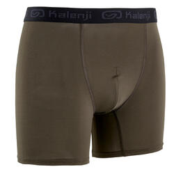 MEN'S BREATHABLE RUNNING BOXERS - KHAKI