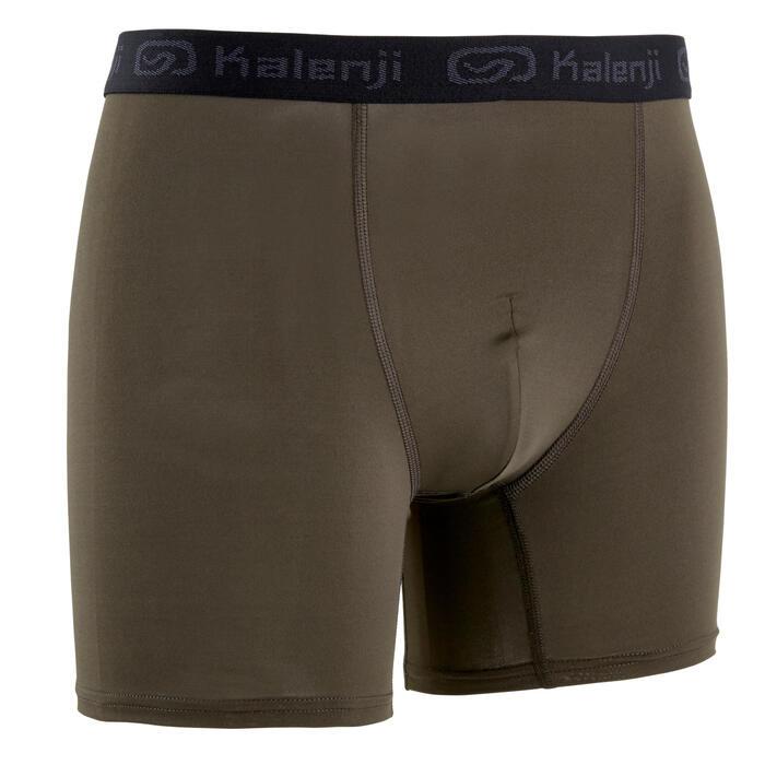 Ademende boxershort voor hardlopen heren kaki