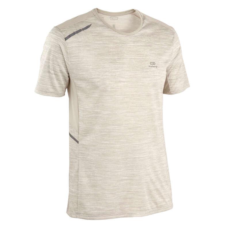 REGULAR MAN JOG WARM/MILD WTHR CLOTHES Clothing - RUN DRY+ M T-SHIRT MTTLD BEIGE KALENJI - Tops
