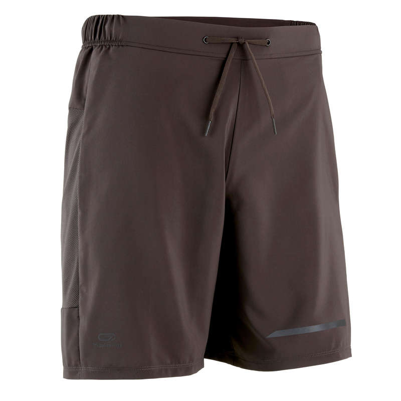 REGULAR MAN JOG WARM/MILD WTHR CLOTHES Clothing - RUN DRY+ MEN'S SHORTS KHAKI KALENJI - Bottoms