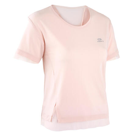 """Sieviešu džoginga T krekls """"Run Feel"""", blāvi rozā"""
