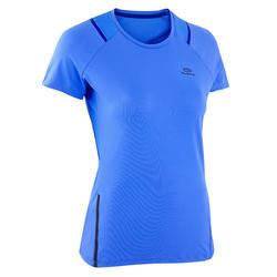 女款跑步T恤RUN DRY + - 賽艇藍