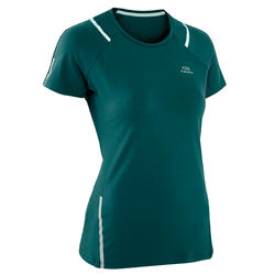 RUN DRY+ WOMEN'S RUNNING T-SHIRT - TURQUOISE