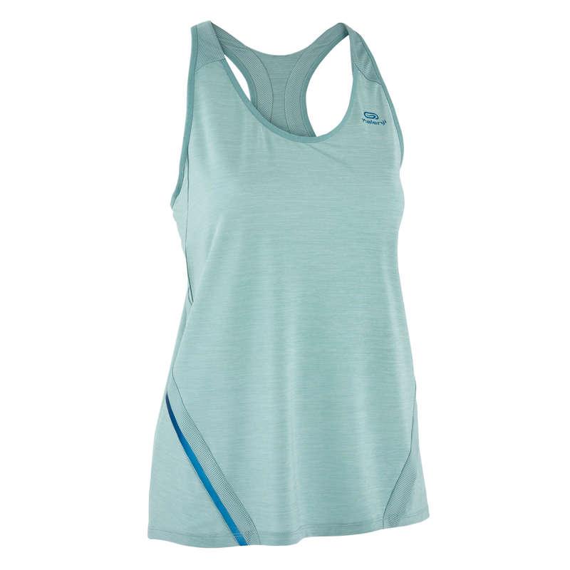 ABBIGLIAMENTO TRASPIRANTE DONNA Running, Trail, Atletica - Canotta donna RUN LIGHT verde KALENJI - Abbigliamento Running
