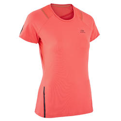 RUN DRY + WOMEN'S RNNING T-SHIRT - CORAL