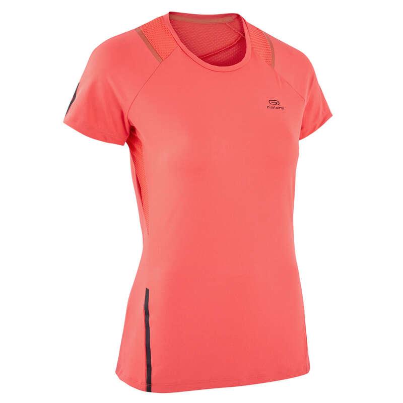 ÎMBRĂCĂMINTE DIN MATERIAL RESPIRANT PRACTICARE CONSECVENTĂ DAMĂ Alergare - Tricou Jogging RUN DRY+ Damă KALENJI - Imbracaminte