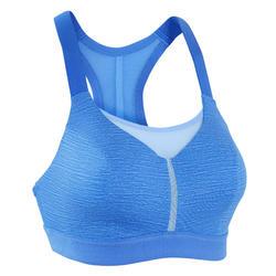 Sportbeha voor hardlopen Comfort gemêleerd blauw