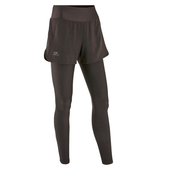 Run Dry+ 2-in-1 running Shorts/Tights - Black