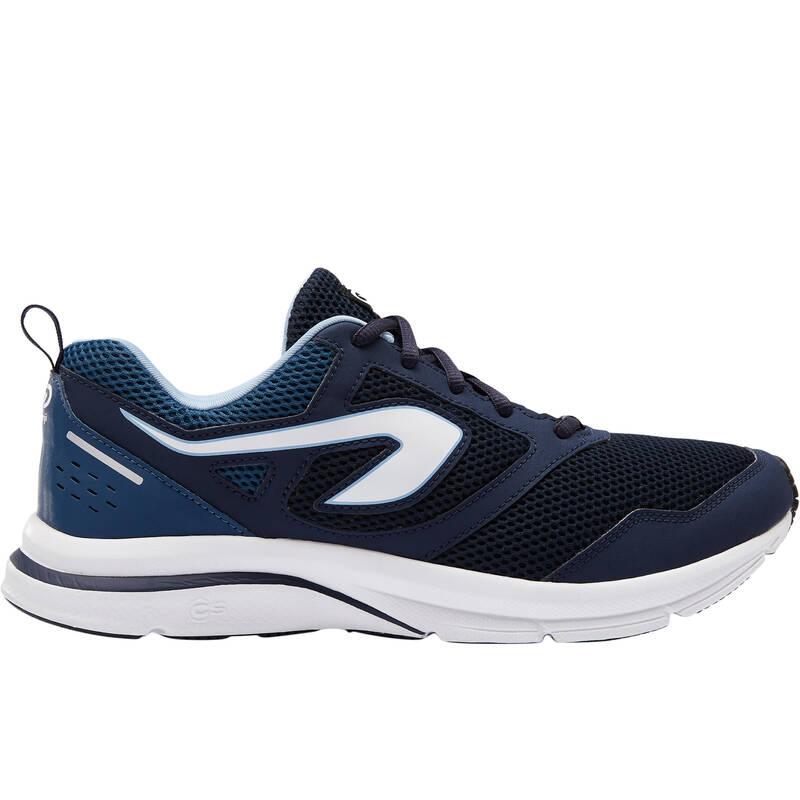 PÁNSKÉ BOTY NA JOGGING / PŘÍLEŽITOSTNÉ POUŽITÍ Běh - BOTY RUN ACTIVE MODRÉ  KALENJI - Běžecká obuv