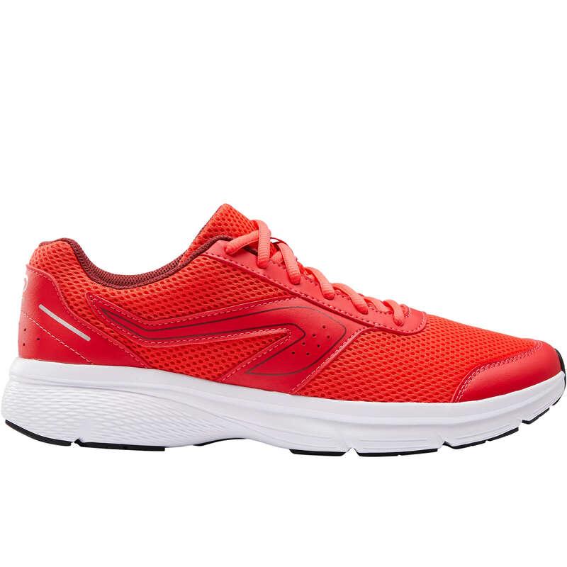 МЪЖИ ОБУВКИ ЗА ДЖОГИНГ, НЕИНТЕНЗИВНО - мъжки обувки CUSHION, червени KALENJI