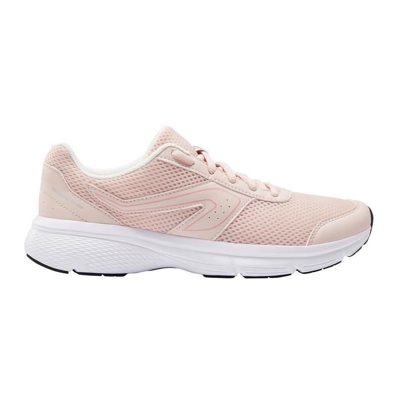 DÁMSKÉ BOTY NA JOGGING - PŘÍLEŽITOSTNÉ POUŽITÍ Běh - BOTY RUN CUSHION RŮŽOVÉ  KALENJI - Běžecká obuv