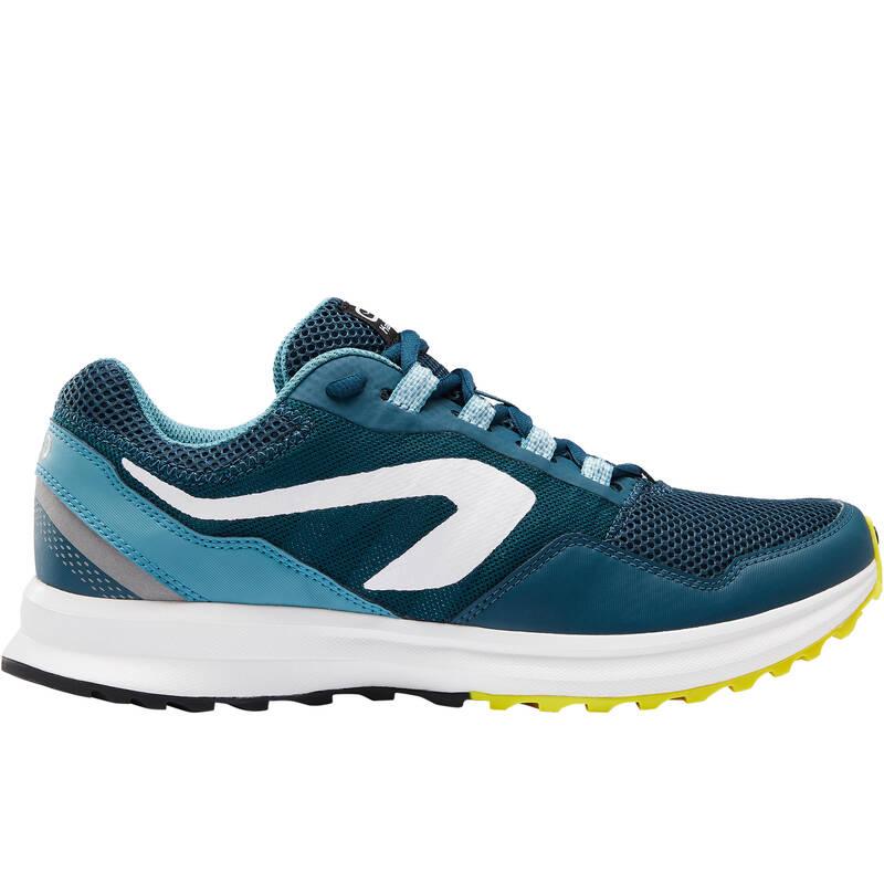 PÁNSKÉ BOTY NA JOGGING / PŘÍLEŽITOSTNÉ POUŽITÍ Běh - BOTY RUN ACTIVE GRIP ZELENÉ  KALENJI - Běžecká obuv
