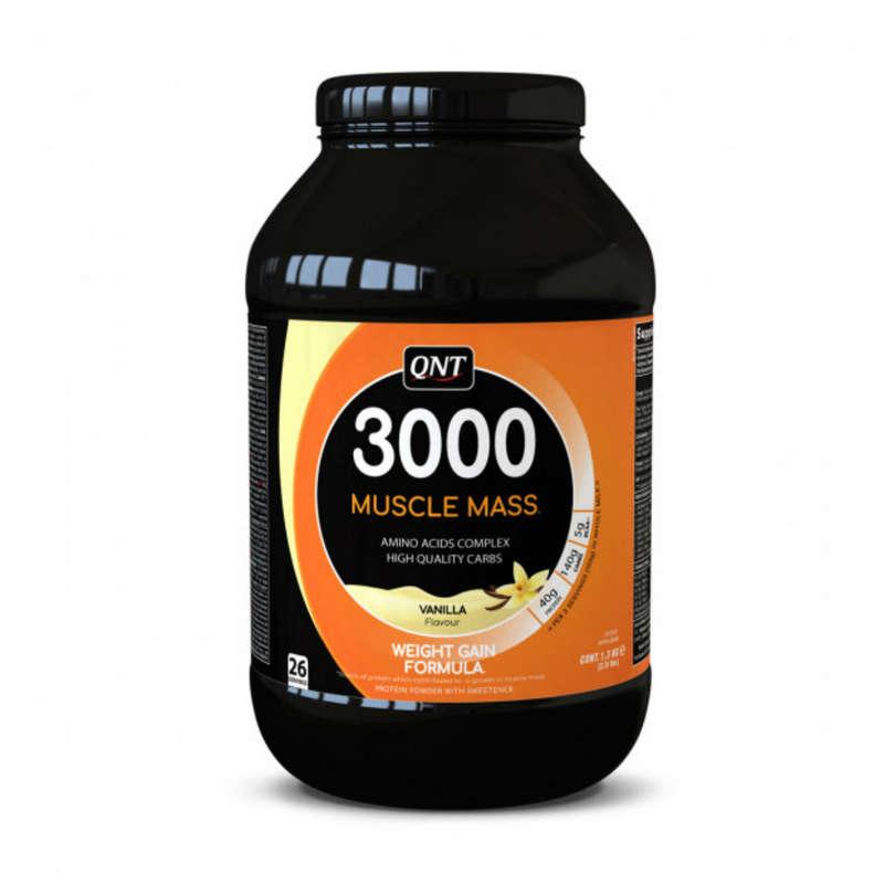 ПРОТЕИНЫ, БИОЛОГИЧ АКТИВ ДОБАВКИ Спортивное питание - RU QNT Muscle Mass 3000 vanil QNT - Спортивное питание